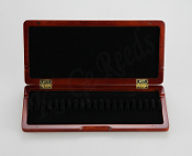 Wooden Oboe Reed Case for 20 reeds - Red