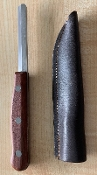 K.GE Reed Scraping Knife with Leather Sheath